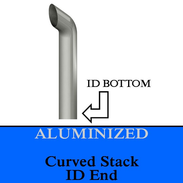 4 inch x 18 inch Curved ID Aluminized Stack pipe (K4-18EXA)