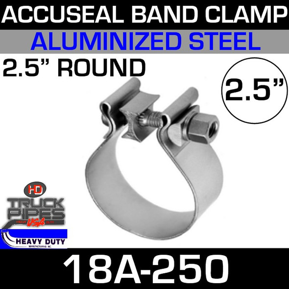 "2.5"" AccuSeal Exhaust Clamp - Aluminized 18A-250"