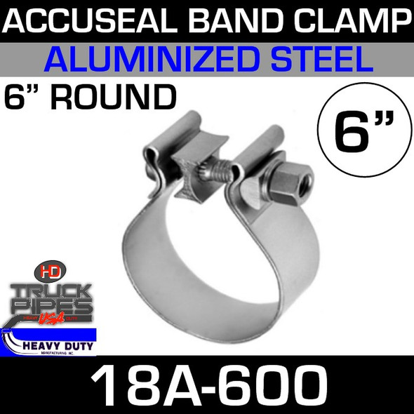 "6"" AccuSeal Exhaust Clamp - Aluminized 18A-600"