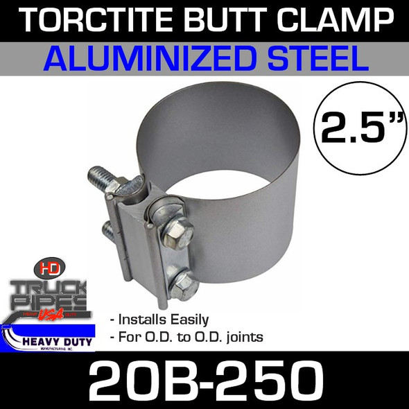 """2.5"""" Band Clamp - Aluminized Preformed Butt Joint 20B-250"""