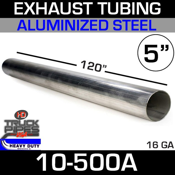 "Exhaust Tubing 5"" x 10' Aluminized 10-500A"