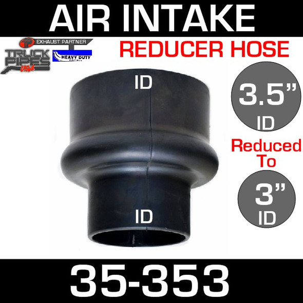 """3.5"""" to 3"""" Rubber Reducer Hose Air-Intake Exhaust 35-353"""