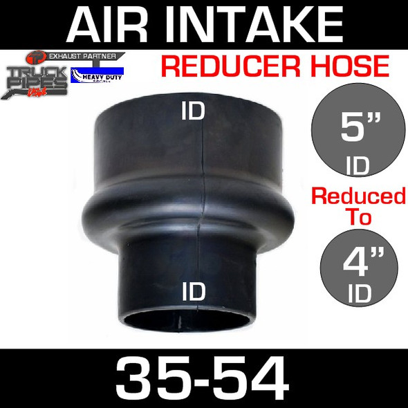 """5"""" to 4"""" Rubber Reducer Hose Air-Intake Exhaust 35-54"""