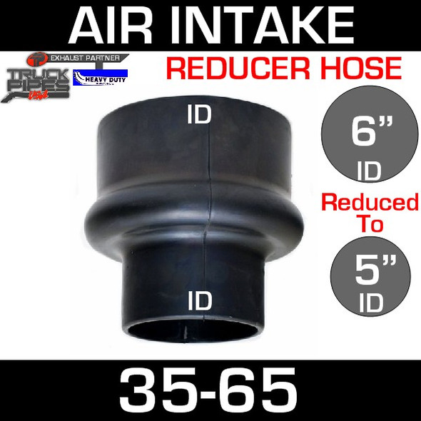 """6"""" to 5"""" Rubber Reducer Hose Air-Intake Exhaust 35-65"""
