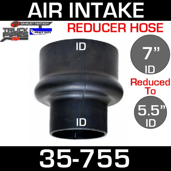 """7"""" to 5.5"""" Rubber Reducer Hose Air-Intake Exhaust 35-755"""