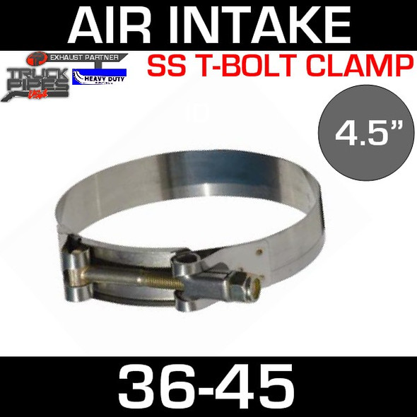 """4.5"""" Air Inlet Clamp - T-Bolt Style 36-45"""