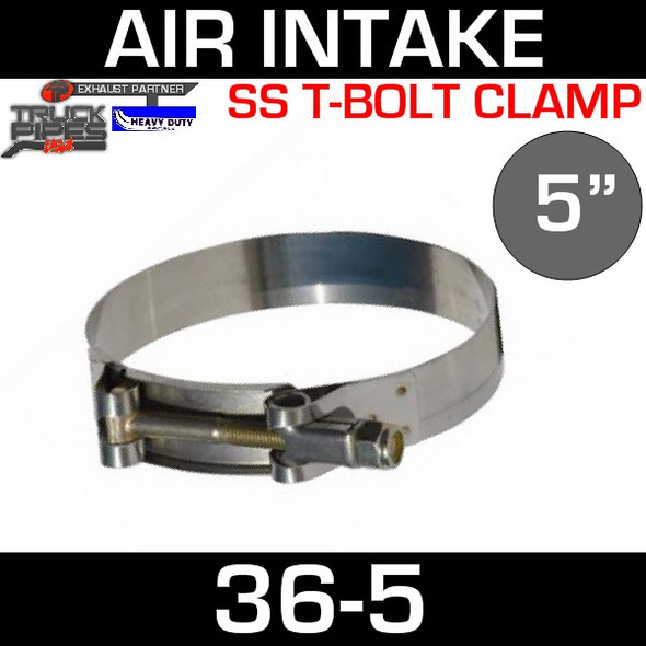 "5"" Air Inlet Clamp - T-Bolt Style 36-5"