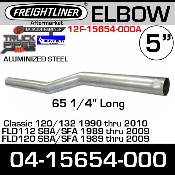 "Freightliner FLD 65.25"" Long Pipe Exhaust Elbow 04-15654-000"