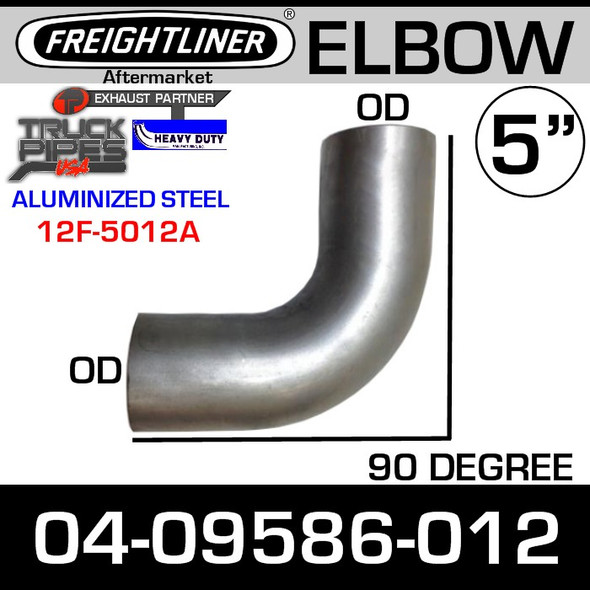 "Freightliner 5"" Exhaust 90 Degree Elbow OD-OD ALZ 04-09586-012"