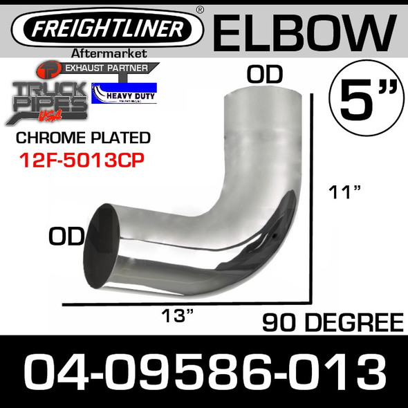 Freightliner Classic 90 Degree Chrome Elbow 04-09657-013