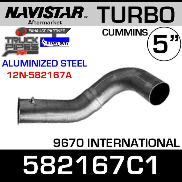 582167C1 Navistar 9670 Cummins Turbo Elbow ALZ 12N-582167A