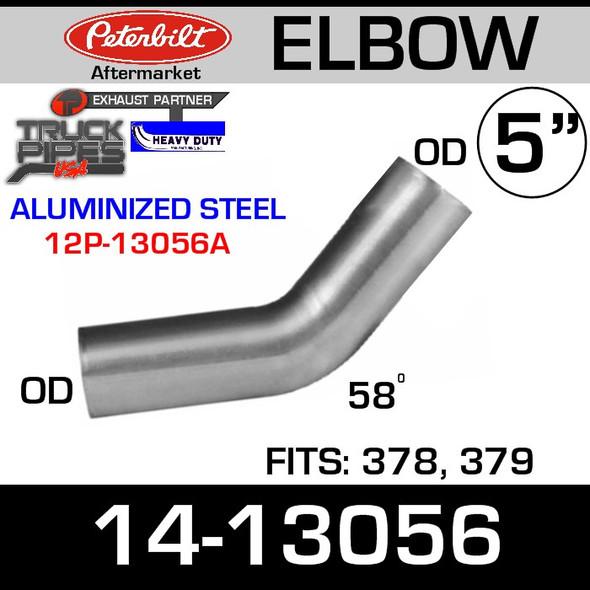 Peterbilt 379 Standard 55 Degree Exhaust Elbow 14-13056