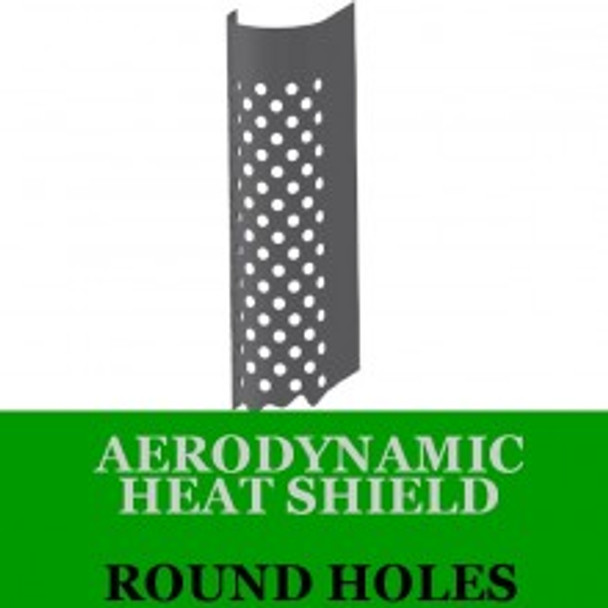 "10"" x 60"" Aerodynamic Shield Round Holes with Brackets AHS-1060RS"