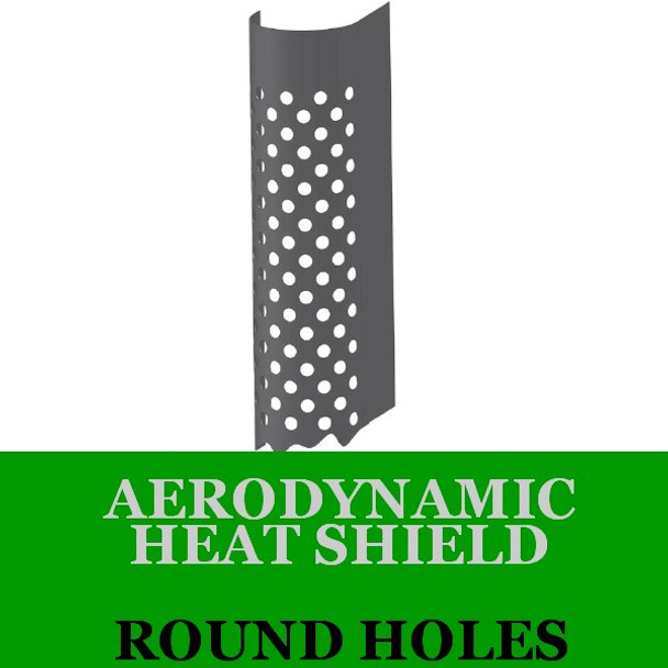 "6"" x 60"" Aerodynamic Shield Round Holes with Brackets AHS-660RS"