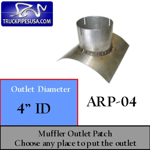 "4"" ID Universal Muffler Outlet Patch 8"" x 8"" ARP-04"