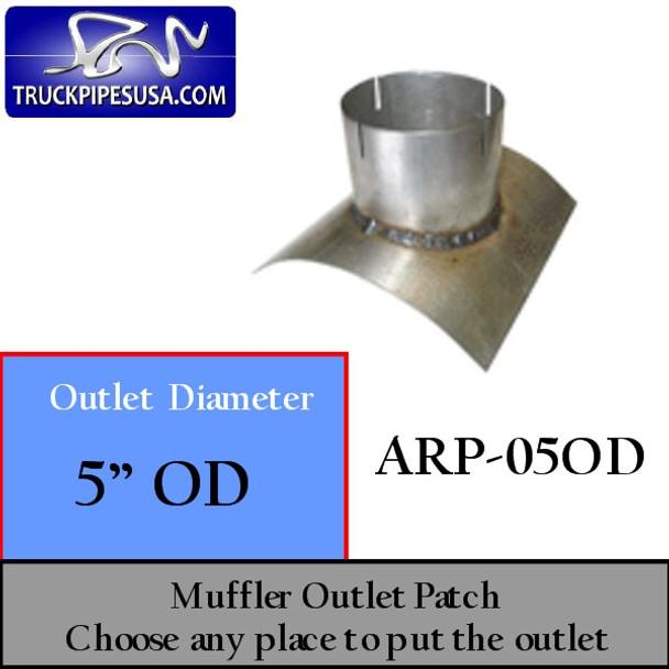 "5"" OD Universal Muffler Outlet Patch 8"" x 8"" ARP-05OD"