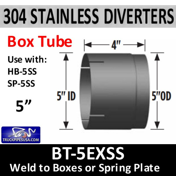 "5"" ID Heat Box Connector - Weld to Diverter Box BT-5EXSS"