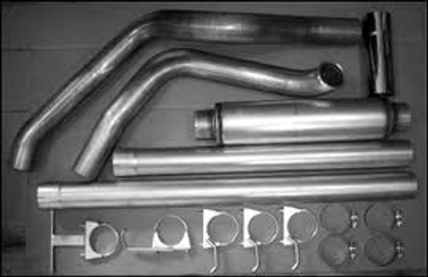 """2004-2006 Dodge 5.9L 600 Series 4"""" Single Stack Exhaust Kit"""