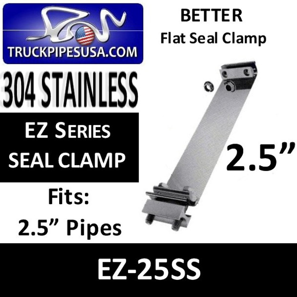 "2.5"" EZ-Seal Flat Seal Exhaust Band Clamp STAINLESS STEEL EZ-225SS"