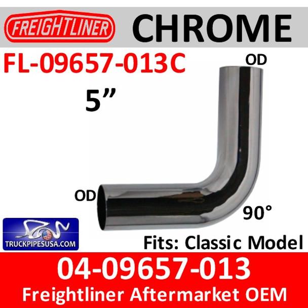 04-09657-013 Freightliner 90 Degree Elbow CHROME FL-09657-013C