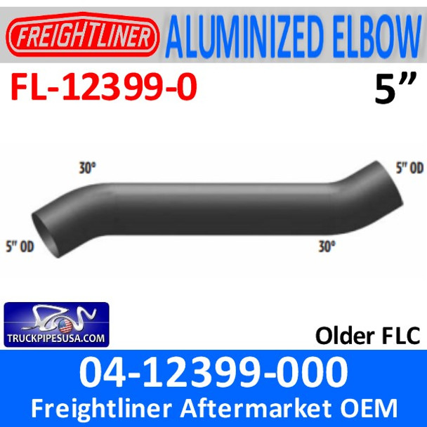 "04-12399-000 Freightliner 34"" Long 30 Degree Elbow FL-12399-0"