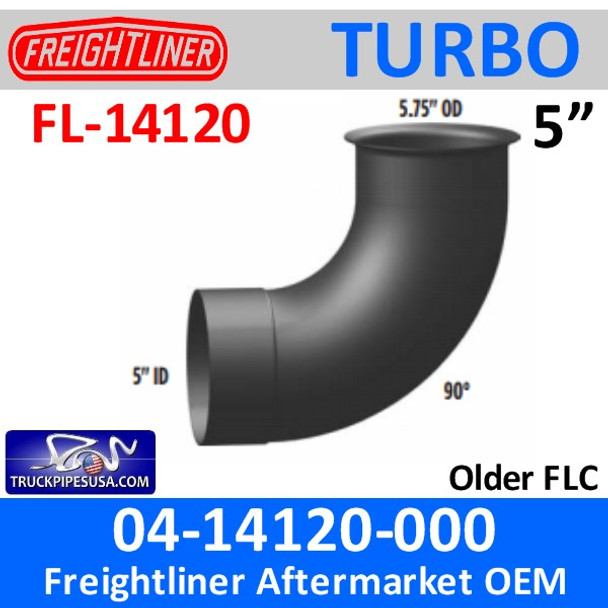04-14120-000 Freightliner 90 Degree Turbo Pipe 5.75 OD-5 ID FL-14120