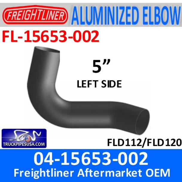 04-15653-002 Freightliner Exhaust Left Elbow ALUMINIZED FL-15653-002