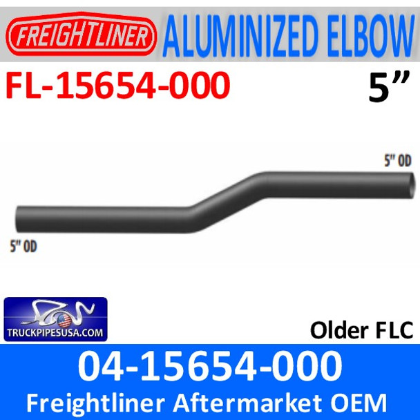 """04-15654-000 Freightliner 5"""" Exhaust Elbow Pipe 66"""" Long FL-15654-0"""
