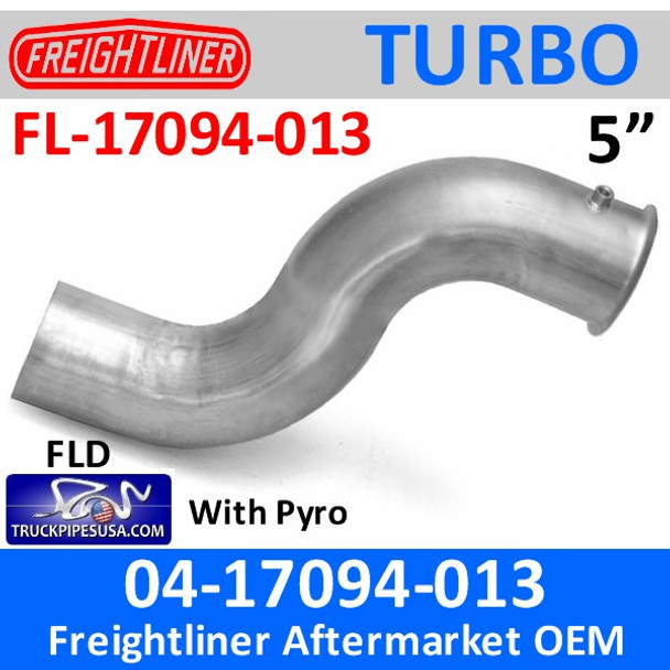 04-17094-013 Freightliner Turbo Exhaust Pipe with Pyro FL-17094-013