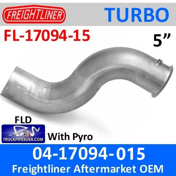 04-17094-015 Freightliner Turbo Exhaust Pipe with Pyro FL-17094-015