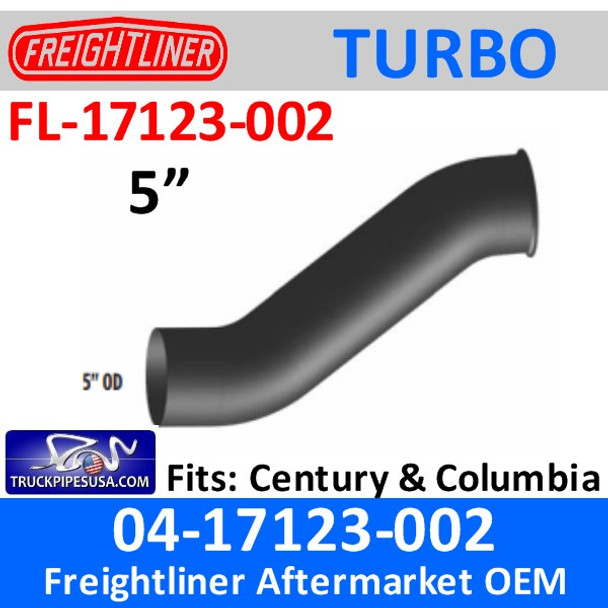 04-17123-002 Freightliner Turbo Exhaust with Pyro FL-17123-002