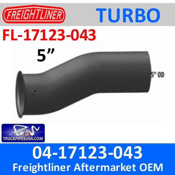 04-17123-043 Freightliner Turbo Exhaust Elbow Pipe FL-17123-043