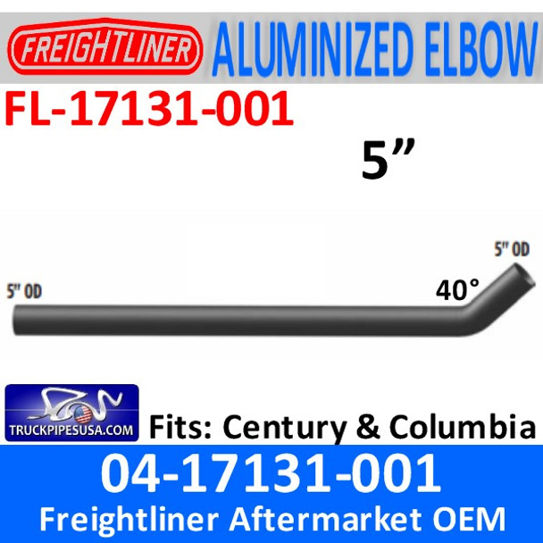 04-17131-001 Freightliner Century Short Connection Pipe 25.59""