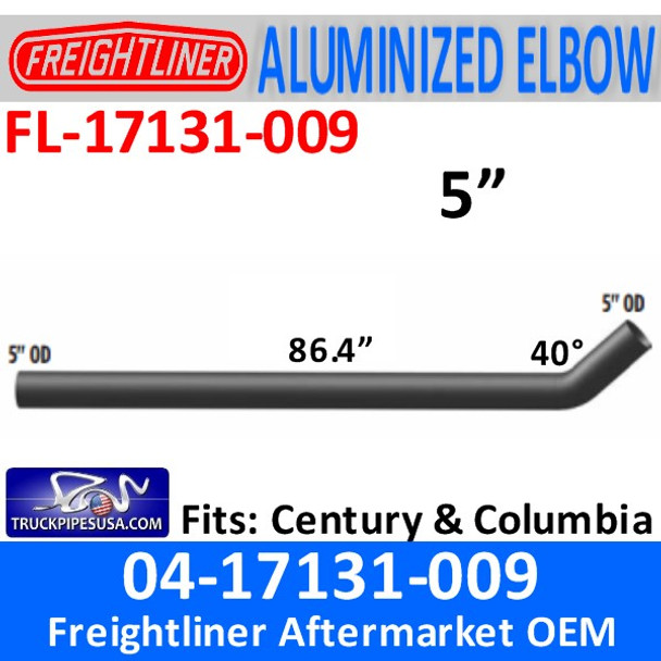 """04-17131-009 Freightliner Century Long Connection Pipe 86.44"""""""