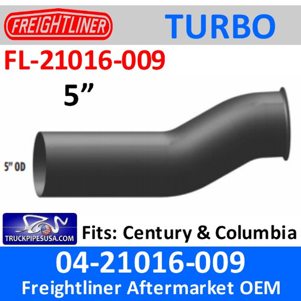 04-21016-009 Freightliner Turbo Exhaust Pipe FL-21016-009