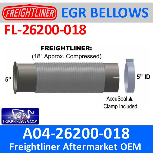 A04-26200-018 Bellows Turbo Flare for Freightliner FL-26200-018