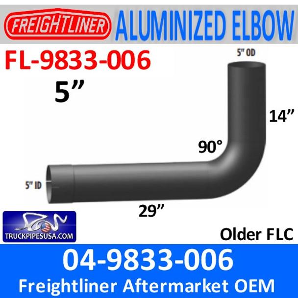04-09833-006 Freightliner ALUMINIZED 90 ID/OD Elbow FL-9833-006