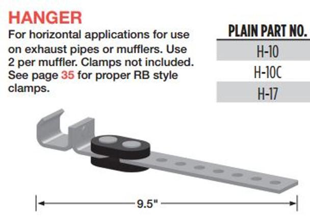 """10"""" Muffler Exhaust Hanger for Horizontal Applications H-10"""