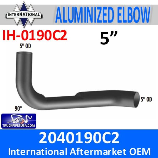2040190C2 International Exhaust Elbow with Flat Area IH-0190C2
