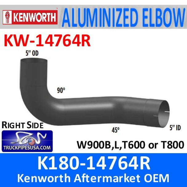 "K180-14764R Kenworth 5"" Right Exhaust Elbow KW-14764R"