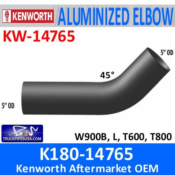 K180-14765 Kenworth Exhaust 45 Degree Elbow KW-14765
