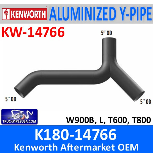 K180-14766 Kenworth Exhaust Y-Pipe W900-T600-T800