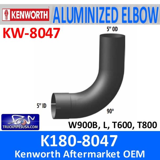"K180-8047 Kenworth 5"" 90 Degree Exhaust Elbow ID/OD"