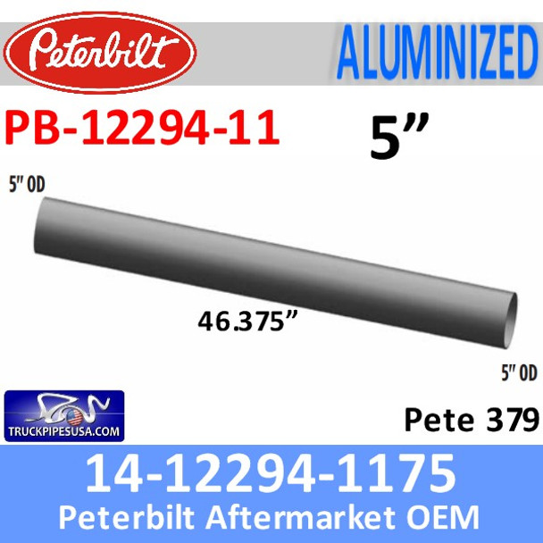 14-12294-1175 Peterbilt 379 Exhaust Pipe PB-12294-11