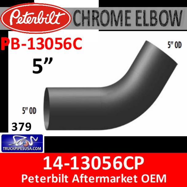 14-13056C Peterbilt 379 CHROME Exhaust Elbow PB-13056C