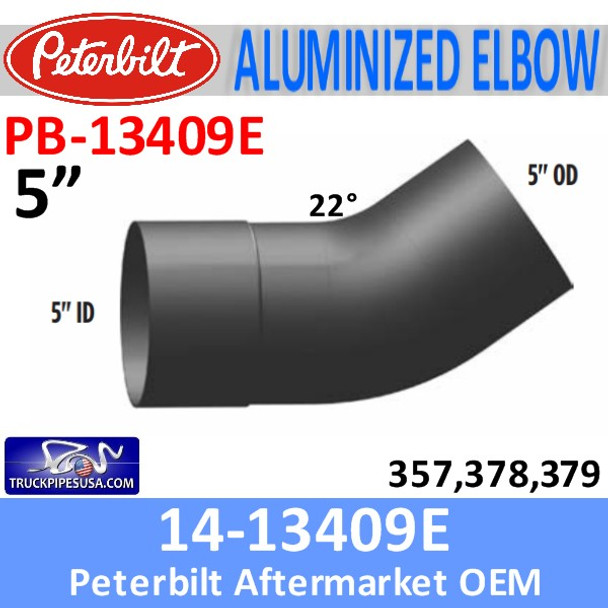 14-13409E Peterbilt 357,378,379 Exhaust Elbow PB-13409-E