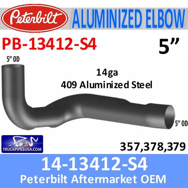 14-13412 Peterbilt 357,378,379 409 SS Elbow PB-13412-S4