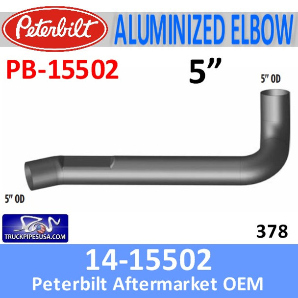 14-15502 Peterbilt 378 Exhaust Elbow PB-15502