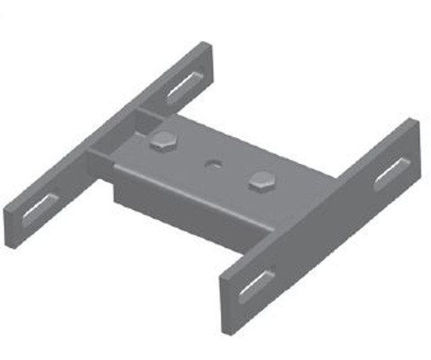 Stack Mount Bracket 2 piece Powder Coated For Use with Flat Bolt Clamps