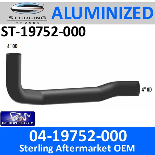 04-19752-000 Sterling Exhaust Elbow Pipe ST-19752-000